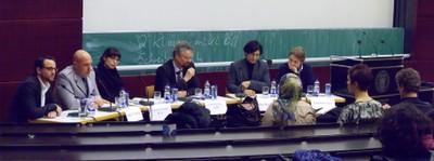 Podium: Olmo Gölz, Florian Hering, Nabiela Farouq, Gernot Erler, Abbas Poya, Sebastian Christ - small